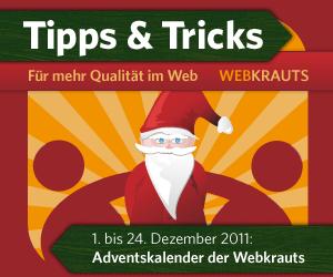 Adventskalender der Webkrauts 2011